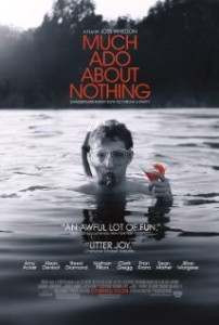 "poster for joss whedon's ""much ado about nothing"""