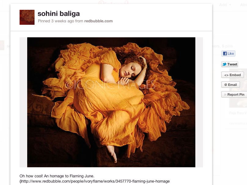 Homage to Flaming June on PInterest