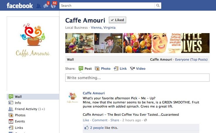Caffe Amouri's Facebook Page