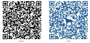QR code before and after