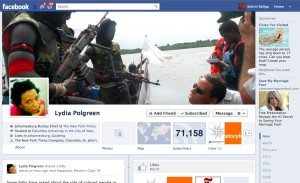 Facebook Timeline cover of Lydia Polgreen of the NYT