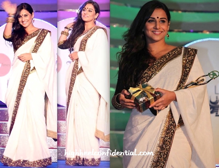 Vidya Balan wearing Sabyasachi from High Heel Confidential